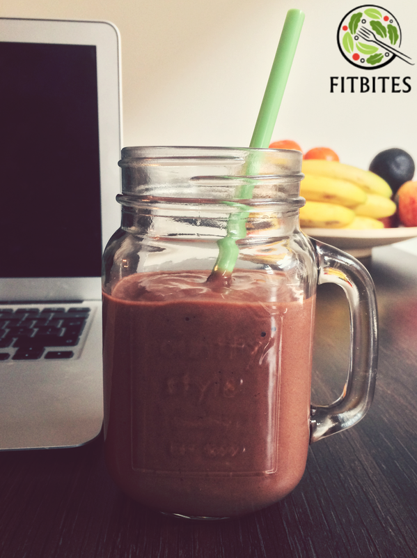 chocolate banana avocado smoothie